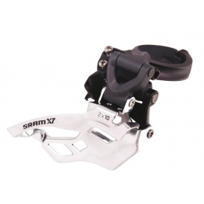 SRAM VOORDERAILLEUR X7 HIGH CLAMP 31,8/34,9 DUAL PULL 10SP 2X10 TBV 38/36