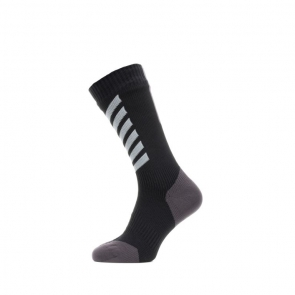 SEALSKINZ Waterproof All Weather Mid Length Sock with Hydrostop Fietssokken Waterdicht